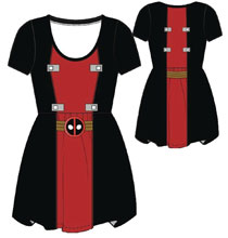 Image: Marvel Dress: Deadpool [Red and Black]  (XL) - Mighty Fine