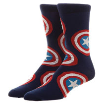 Image: Marvel Crew Socks: Captain America  (All Over Print) - Bioworld Merchandising
