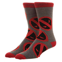 Image: Marvel Crew Socks: Deadpool  (All Over Print) - Bioworld Merchandising