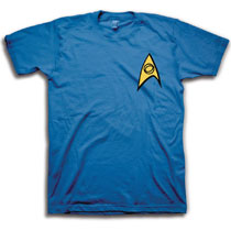 Image: Star Trek T-Shirt: Science [Blue]  (M) - Freeze Cmi