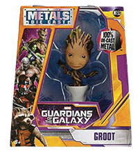 Image: Metals Marvel Die-Cast Figure: Guardians of the Galaxy - Potted Groot  (4-inch) - Jada Toys, Inc