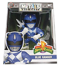 Image: Metals Mighty Morphin Power Rangers Die-Cast Figure: Blue Ranger  (4-inch) -