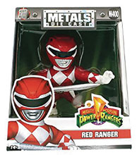 Image: Metals Mighty Morphin Power Rangers Die-Cast Figure: Red Ranger  (4-inch) - Jada Toys, Inc