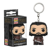 Image: Pocket Pop! Game of Thrones Figure Keychain: Jon Snow 2  - Funko