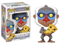 Image: Pop! Lion King Vinyl Figure: Rafiki with Simba  - Funko