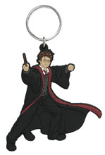 Image: Harry Potter Soft Touch PVC Key Ring: Harry Potter  - Monogram Products