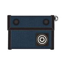 Image: Marvel Canvas Tri-Fold Wallet: Captain America  - Bioworld Merchandising