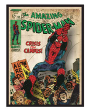 Image: Spider-Man Printed Glass Wall Art: Comic Cover  - Cohen Hazan Group LLC