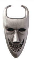 Image: Nightmare Before Christmas Pewter Lapel Pin: Lock Mask  - Monogram Products