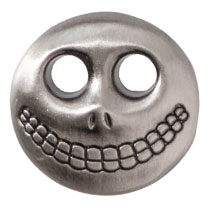 Image: Nightmare Before Christmas Pewter Lapel Pin: Barrel Mask  - Monogram Products