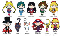 Image: Sailor Moon Laser Cut Figural Keyring 24-Piece Blind Mystery Box Display  - Monogram Products