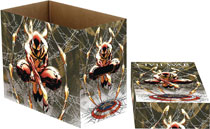Image: Marvel Short Comic Storage Box: Spider-Man Web  (5 Pack) - Wizkids/Neca