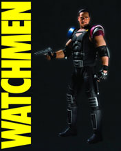 Image: Watchmen Movie Action Figure: Comedian  (variant) -