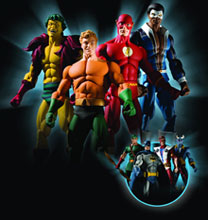 Image: History of the DC Universe Series 2 Action Figure: Aquaman  -