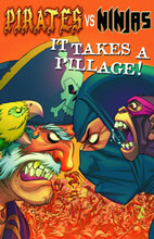 Image: Pirates vs. Ninjas: It Takes a Pillage Pocket Manga SC  - Antarctic Press