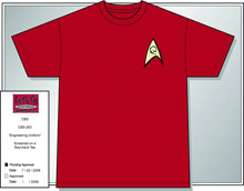 Image: Star Trek T-Shirt: Engineering Red  (M)