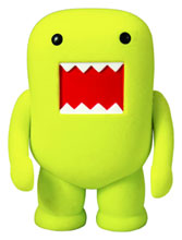 Image: Domo 4-Inch Flocked Vinyl Figure  (Lemon Yellow) -