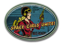 Buck Rogers: Space Girls Unite Belt Buckle