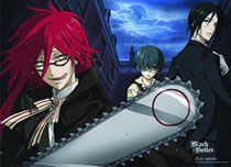 Image: Black Butler Grell Wall Scroll  -