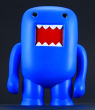 Image: Domo 4-Inch Vinyl Figure: Black Light Blue  - Dark Horse