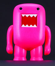 Image: Domo 4-inch Vinyl Figure: Black Light Red  - Dark Horse