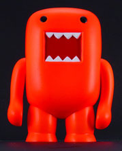 Image: Domo 4-inch Vinyl Figure: Black Light Orange  - Dark Horse