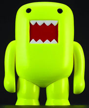 Image: Domo 4-inch Vinyl Figure: Black Light Yellow  - Dark Horse