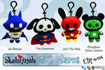 Image: Skelanimals Clip-On Plush: Superman Dax  -