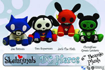 Image: Skelanimals 6-inch Plush: Superman Dax  -