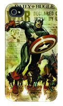 Image: Captain America iPhone 4/4S Barely There Case: Newsreel  -