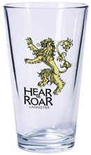 Image: Game of Thrones Pint Glass: Lannister Sigil  - Dark Horse Comics
