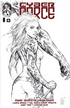 Image: Cyber Force #5 (100-Copy Silvestri black & white variant cover) - Image Comics