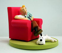 Image: Tintin Box Scene: Tintin at Home  - Tintin