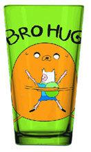 Image: Adventure Time Pint Glass: Bro Hug  - Adventure Time