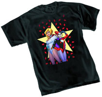 Image: Harley Quinn & Powergirl by Conner T-Shirt  (M) -