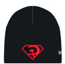 Image: DC Knit Beanie: Superman Red Son Symbol  -