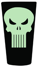 Image: Marvel Glow-in-the-Dark Pint Glass: Punisher  -