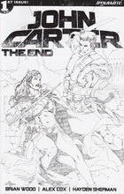 Image: John Carter: The End #1 (Rubi sketch incentive cover - 01071) (20-copy)  [2017] - Dynamite