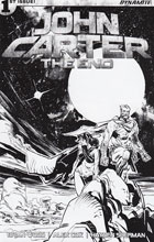 Image: John Carter: The End #1 (Brown b&w incentive cover - 01091) (40-copy)  [2017] - Dynamite