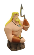 Image: JLA Animated Series Resin Bust: Aquaman  - Diamond Select Toys LLC