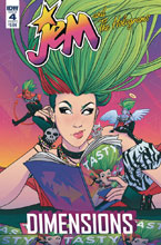 Image: Jem & the Holograms: Dimensions #4 (cover A - Boeh) - IDW Publishing