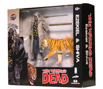 Image: Walking Dead Action Figure 2-Pack: Ezekiel & Shiva All Out War  (Color) - Image Comics