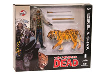 Image: Walking Dead Action Figure 2-Pack: Ezekiel & Shiva All Out War  (Bloody) - Image Comics