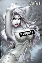Image: Lady Death Fantasies  (Naughty Alabaster edition) - Coffin Comics