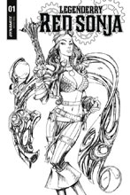 Image: Legenderry Red Sonja #1 (cover B incentive - B&W) (10-copy) - Dynamite