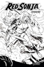 Image: Red Sonja #14 (cover H incentive - Gomez B&W) (30-copy) - Dynamite