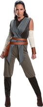 Image: Star Wars E8 Women's Costume: Rey  (L) - Rubies Costumes Company Inc