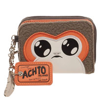 Image: Star Wars E8 Wallet: Porg  (Mini-Zip Bi-Fold) - Bioworld Merchandising