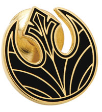 Image: Star Wars E8 Lapel Pin: Gold Rebel Symbol  - Cufflinks Inc.