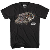 Image: Star Wars T-Shirt: Millennium Revealed [Black]  (S) - Mighty Fine